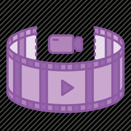 gadget, movie, panorama, video, view, virtual reality, vr icon