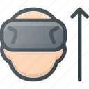 glasses, reality, spectacles, technology, up, virtual, vr icon