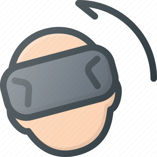 glasses, left, motion, reality, technology, virtual, vr icon