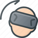 glasses, motion, reality, right, technology, virtual, vr icon