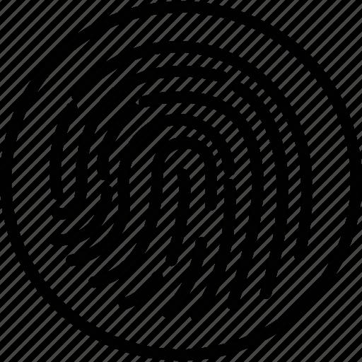 biometric, fingerprint reader, fingerprint scanner, identification icon