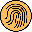 biometric, fingerprint reader, fingerprint scanner, identification icon