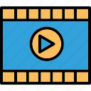 media player, movie, multimedia, video player icon