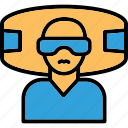 virtual glasses, virtual goggles, virtual reality environment, virtual reality headset icon