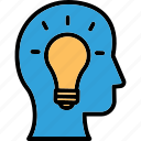 brainstorming, creative mind, creative solution, innovative idea icon
