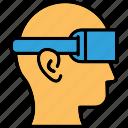 head mounted display, head-mounted device, virtual reality, virtual reality headset icon