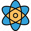 atom, electron, molecule, physics icon