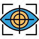 ar contact lenses, ar vision, augmented reality, smart contact lenses icon