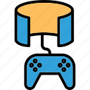 gamepad, playstation, virtual reality gaming, vr gamer, vr video game icon