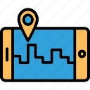 gps, mobile, mobile pin, navigation icon
