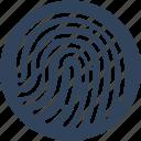 biometric, fingerprint reader, fingerprint scanner, identification+ icon