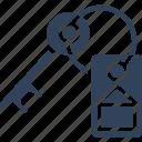 keyring, lock key, protection, security icon