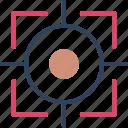 aim, crosshair, focus, target icon