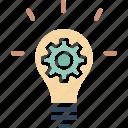 creative idea, development, idea generation, innovating concept icon