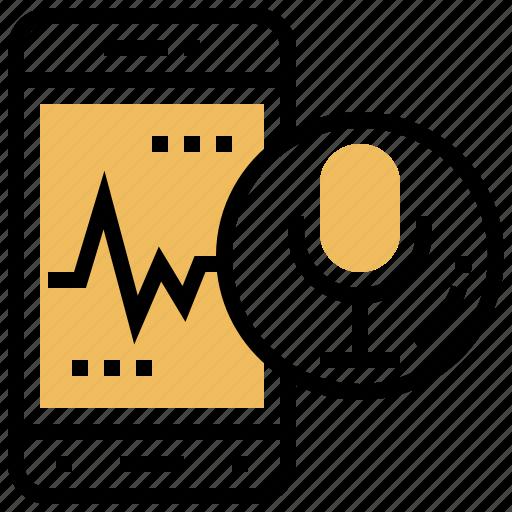 control, detection, smartphone, speak, voice icon