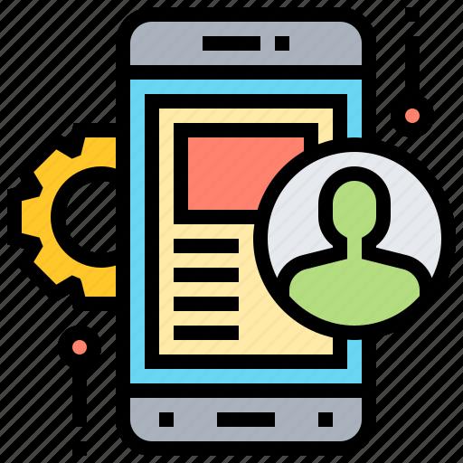 application, development, mobile, setting, software icon