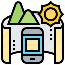 application, mobile, mode, panorama, photograph icon