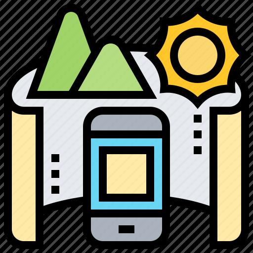 application, mobile, mode, panorama, photograph icon