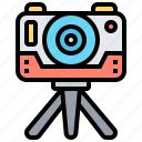 augmented, camera, equipment, photographic, virtual icon
