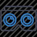 cardboard, goggles, vr icon