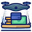 delivery, device, drone, drones, electronic, finance, money icon