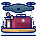 delivery, device, drone, drones, electronic, medical icon