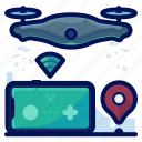 control, device, drone, drones, electronic, remote, wireless icon