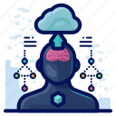 arrow, cloud, profile, reality, upload, virtual, vr