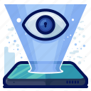 eye, projection, reality, view, virtual, vr icon