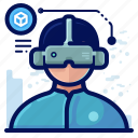 device, electronic, goggles, reality, virtual, vr icon