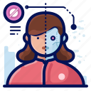 avatar, online, profile, reality, robot, virtual, vr icon