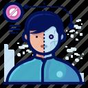 avatar, man, profile, reality, robot, virtual, vr icon