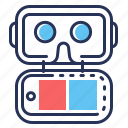 mobile, reality, smartphone, vr glasses icon