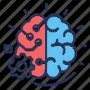 artificial intelligence, brain, gear, technology icon