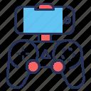 console, controller, smartphone, video game icon