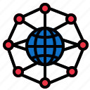 circular, globe, grid, network icon