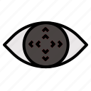 control, eye, tracking icon
