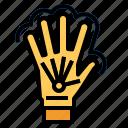 game, glove, joystick icon