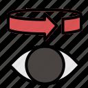 360, eye, vr icon