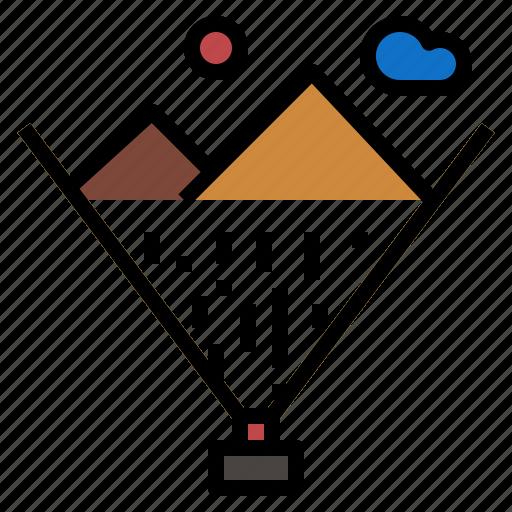 hologram, mountain icon