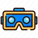 3d glass, eye, game, spectacles, virtual reality, vr glass icon