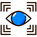 monitoring, observation, perception, view, vision, watch icon