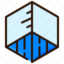 4d, box, cube, virtual reality, vr icon