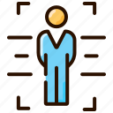 body scan, scan, security, virtual reality, vr icon