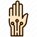 ai, gloves, interaction, technology, virtual reality, wired hand icon