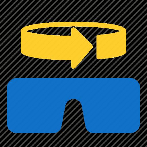 360, glasses, vr icon