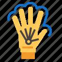 glove, hand, vr icon