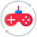 console, game, gaming, joystick, video game simulation, virtual reality icon
