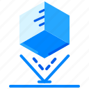 cube, hologram, projector, technology, virtual reality icon
