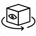 box, arrow, eyes, virtual